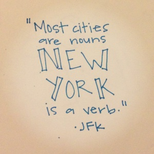new york verb