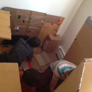 REUSE cardboard homemade fort