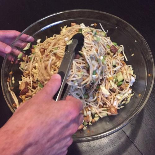cold noodle salad ponzu