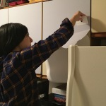 Lessons learned wallpapering the kitchen cupboards