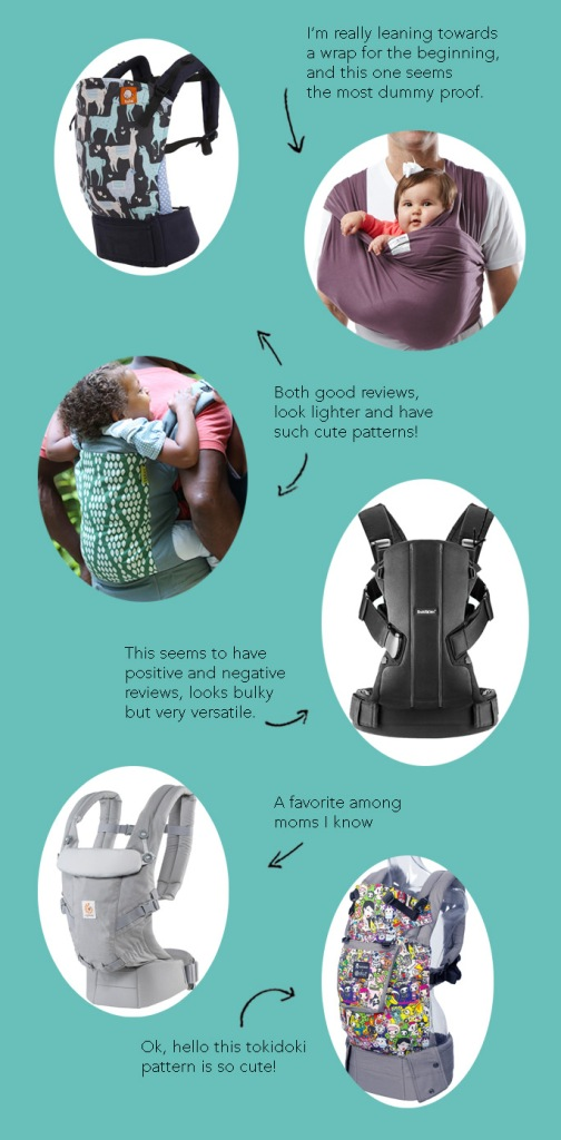 Shopping for the best baby carrier