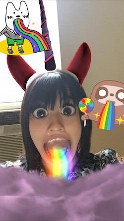 snapchat rainbows and unicorns!